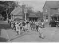 Village fete band procession c1952