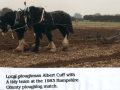 Albert Cuff at Hampshire ploughing match 1983