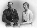 Hubert John Earney and Ethel May Earney of Abbotts Ann 1917