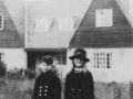 Maurice and his sister with Eastcott & Westcott with their house on Old Salisbury road