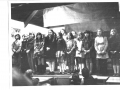 School children on stage c1970