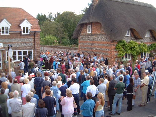 The formal opening of the Village Post Office