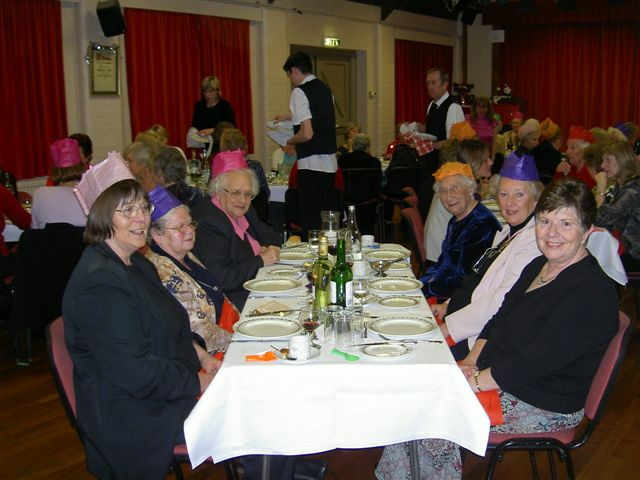 December Meeting 2006 and Christmas Dinner in the Village Hall