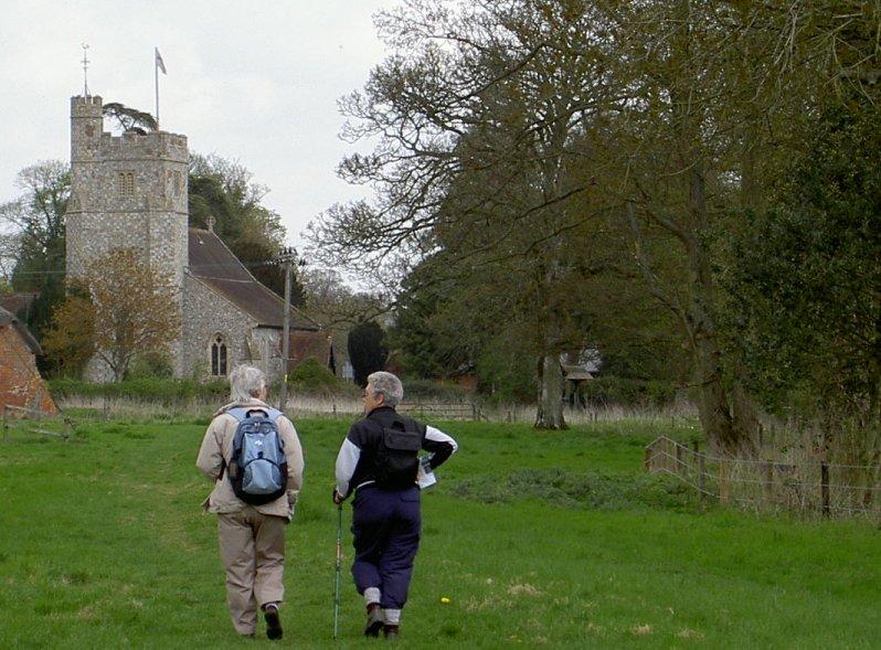 Longparish Church & Cecilia & Helen