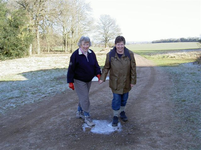 Never too old for playing in puddles!