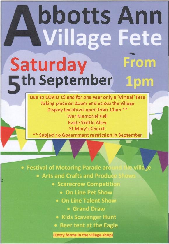 Abbotts Ann Village Fete Poster
